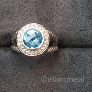 David Yurman Blue Topaz Cerise Ring
